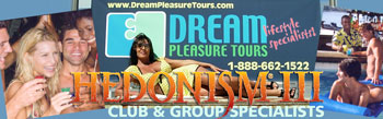 Hedonism Dream Pleasure Tours banner