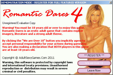 2 player adult game for couples. Very hot.